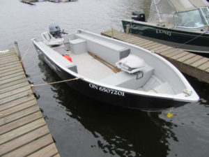 Boat and motor for rent.