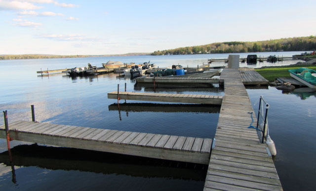 Best docking facilities on the lake! Here's a view of our marina.