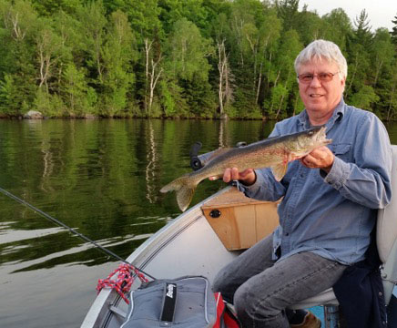 Fishing on Lake Nosbonsing